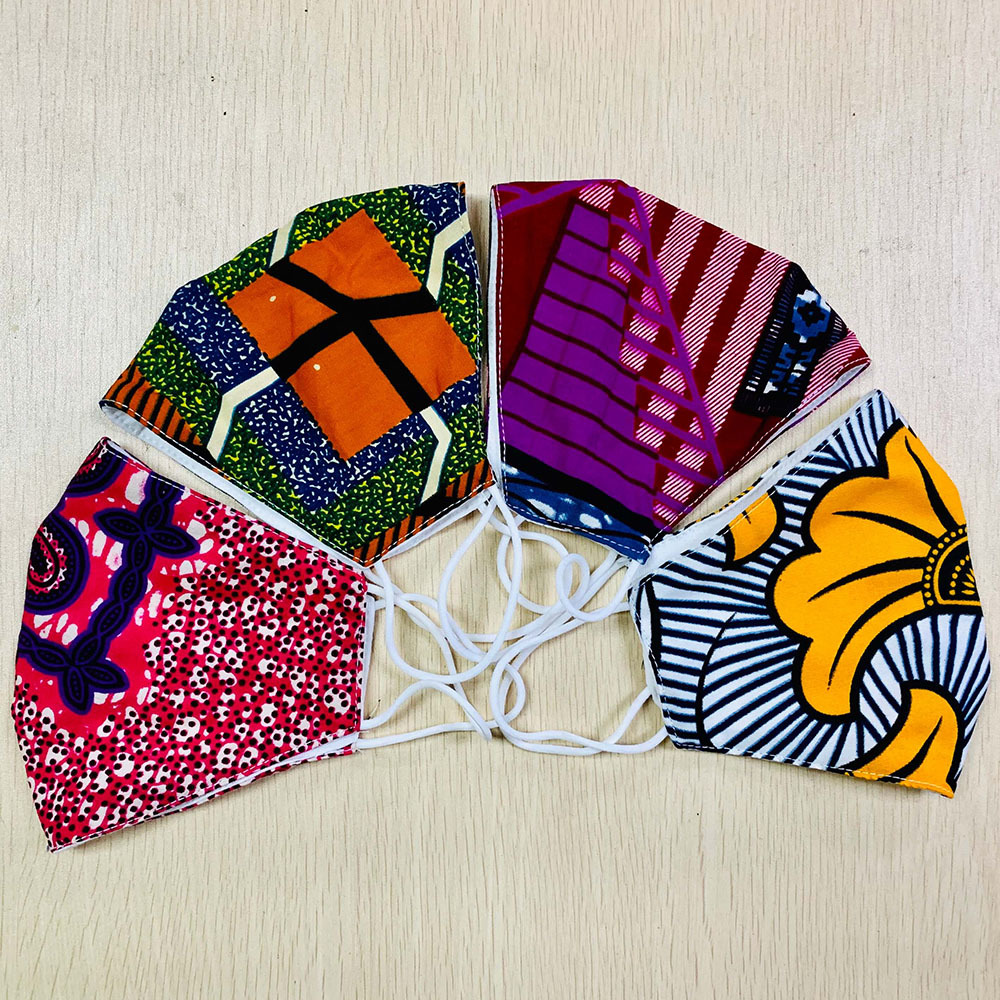 Best Reusable Fabric Mask Washable African Print Masks Wholesale Oem With Good Price