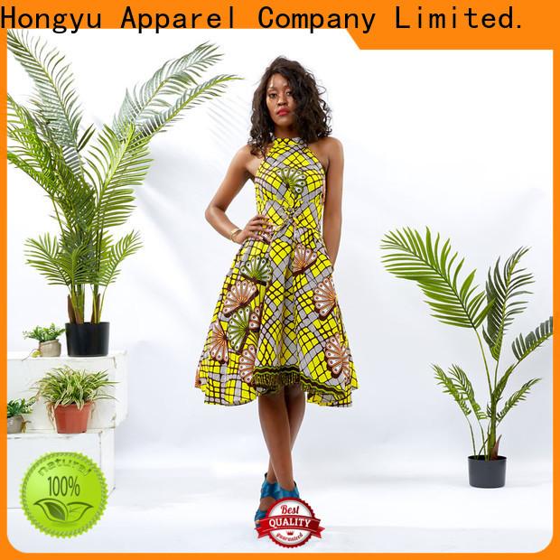 HongYu Apparel design floral dresses for women women reception