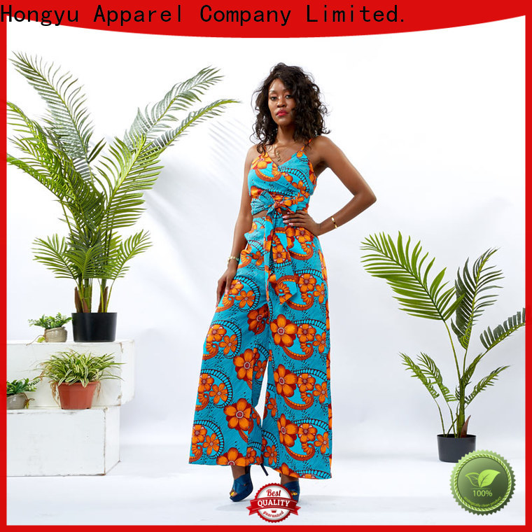 HongYu Apparel crop two piece short set girls africa