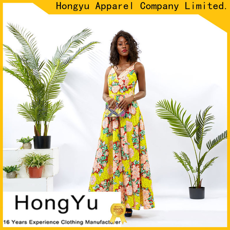 HongYu Apparel floral beautiful dresses for women floor reception