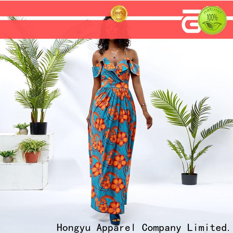 HongYu Apparel classy dresses shoulder africa