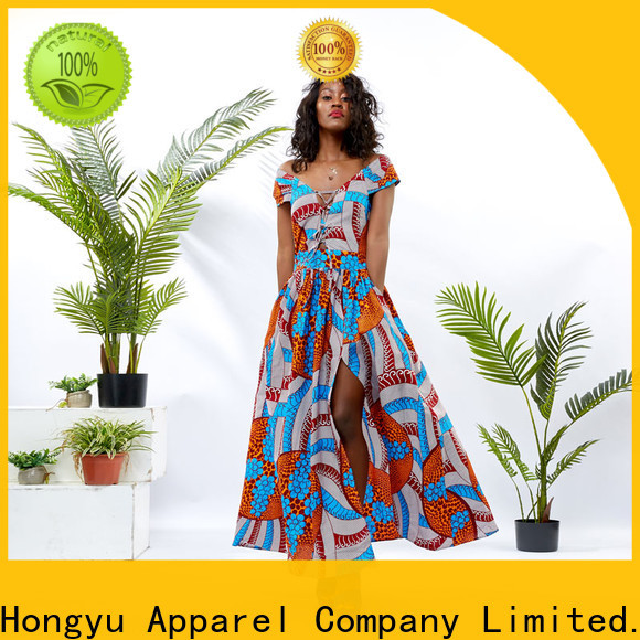 HongYu Apparel female dress off reception