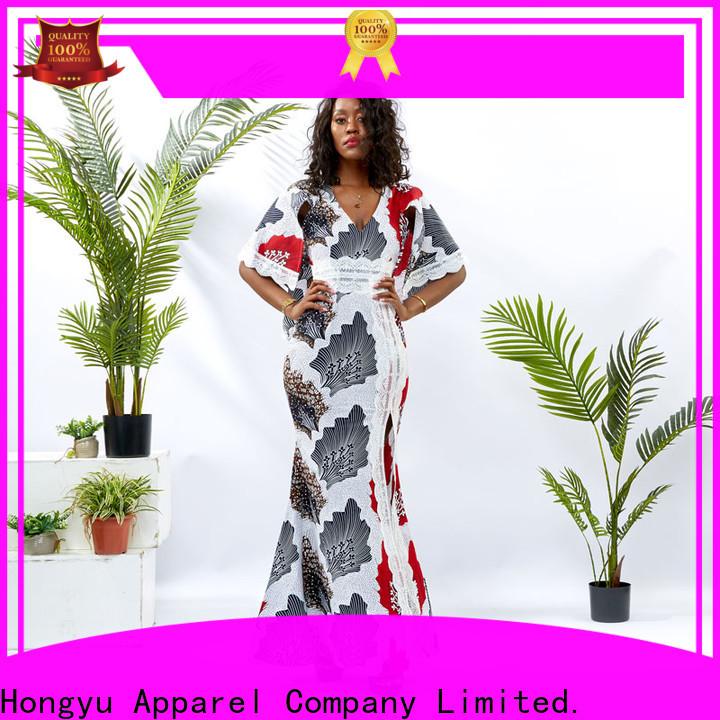 HongYu Apparel wrap best african dress designs shoulder africa