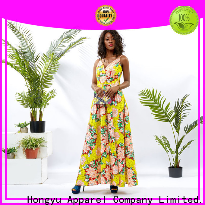 HongYu Apparel trim african print dress designs women africa
