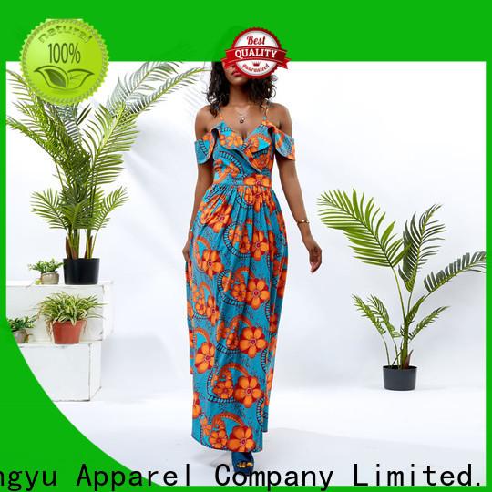 HongYu Apparel oem long maxi dresses floor mall