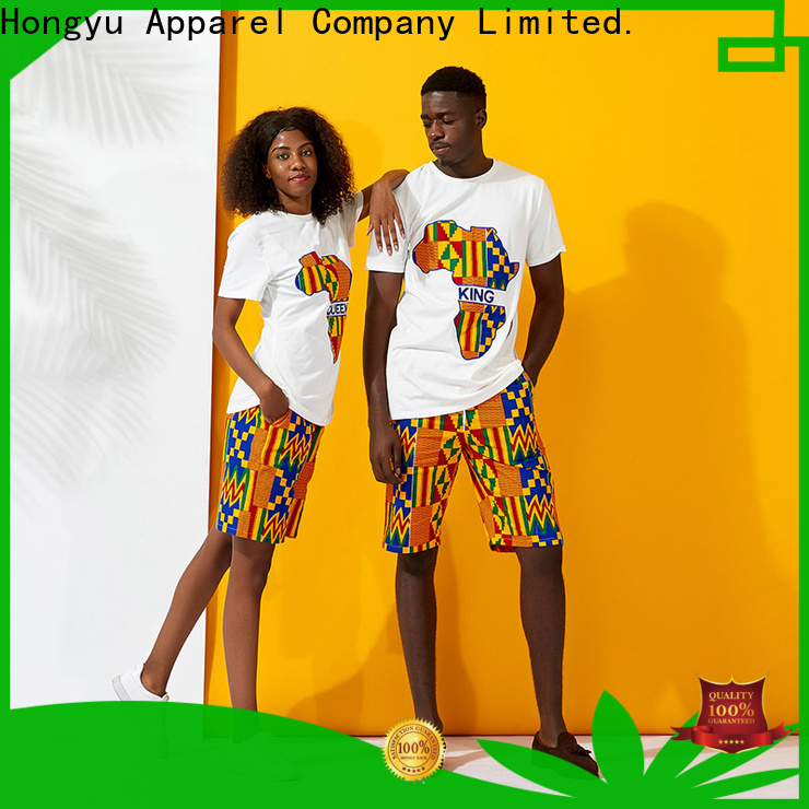 HongYu Apparel custom couple shirts couples