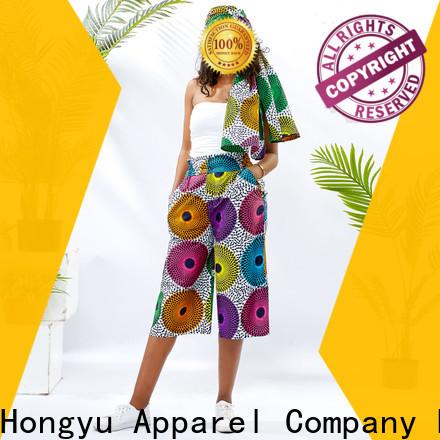 HongYu Apparel colorful women's cotton summer pants design travel