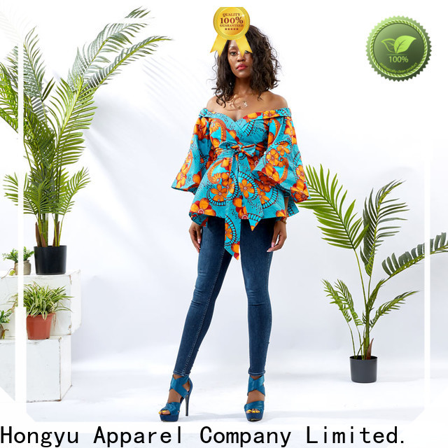 HongYu Apparel ladies shirt design ladies africa