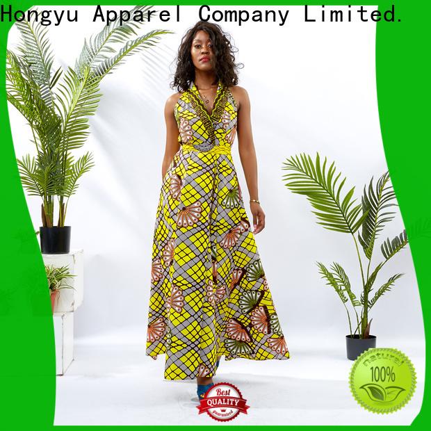 HongYu Apparel oem african print dresses styles off africa