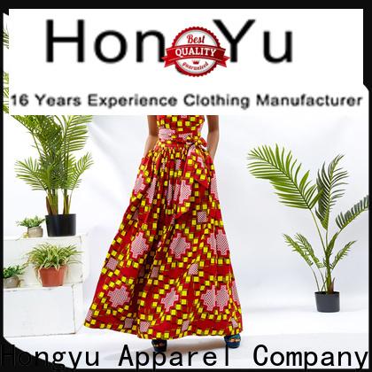 HongYu Apparel stylish dress shoulder africa