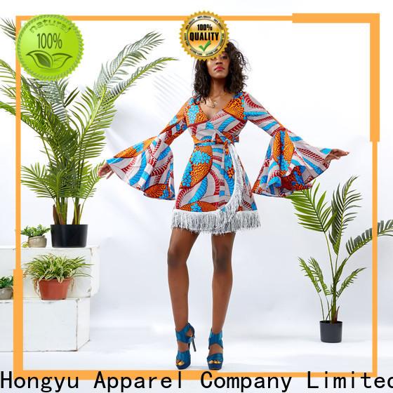HongYu Apparel oem modest dresses for women shoulder mall