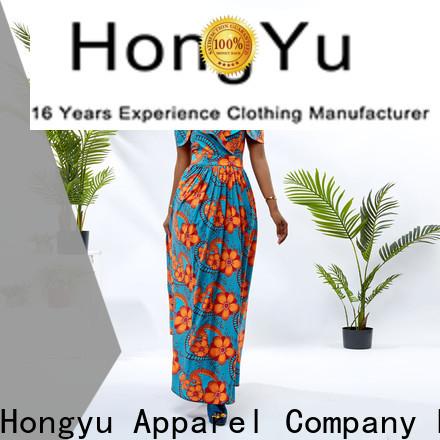 HongYu Apparel african print dresses for ladies floor reception