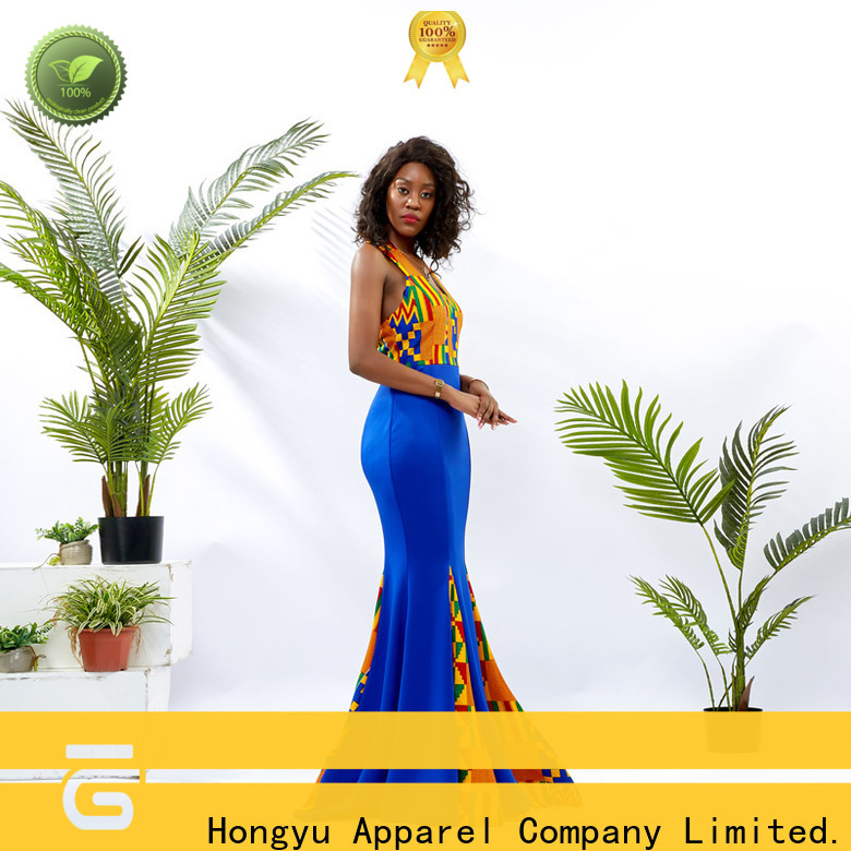 HongYu Apparel short african dresses off reception