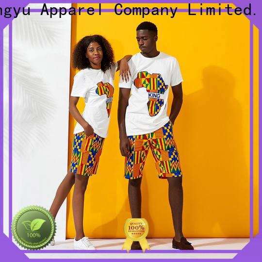 HongYu Apparel quality couple tees outfits men