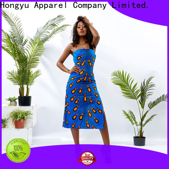 HongYu Apparel print trendy dresses floor africa