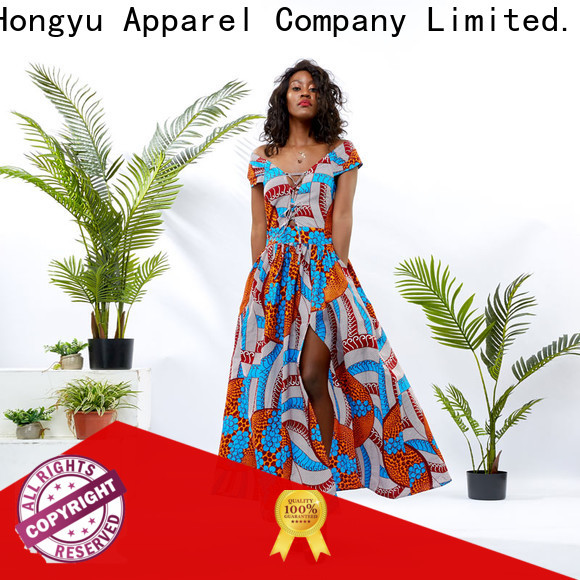 HongYu Apparel long maxi dresses off reception