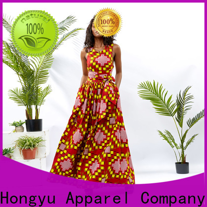 HongYu Apparel midi short wrap dress floor africa