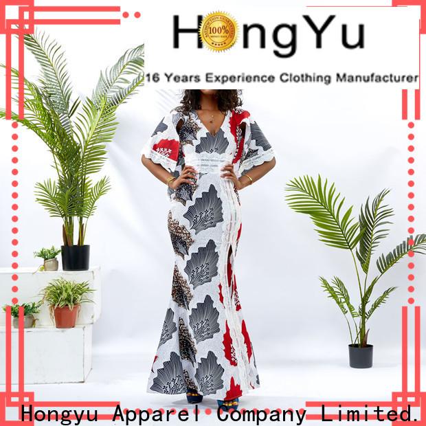 two african print dresses floor africa