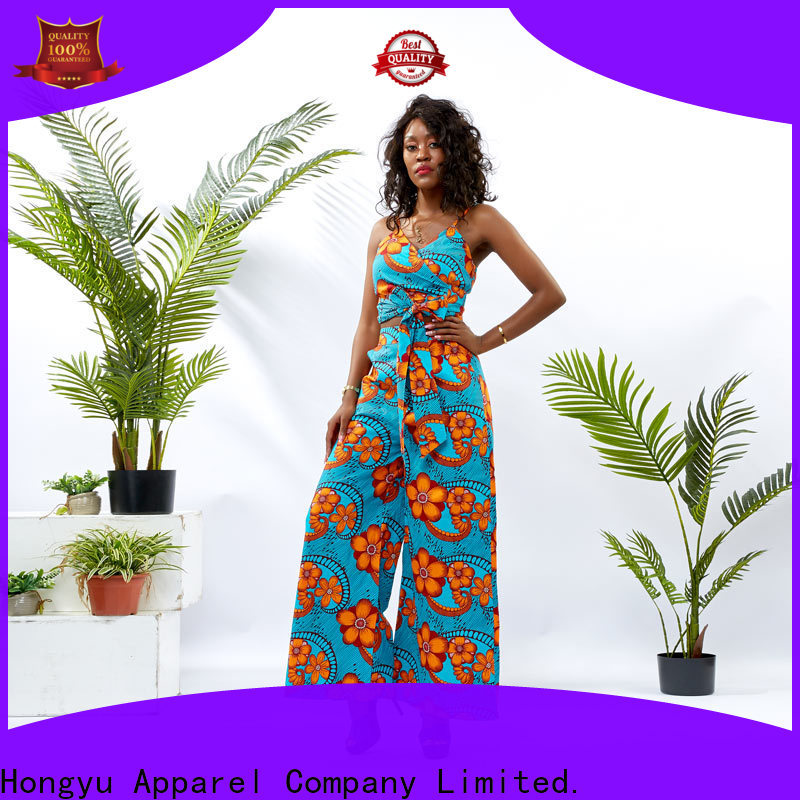 HongYu Apparel top two piece skirt and top print africa
