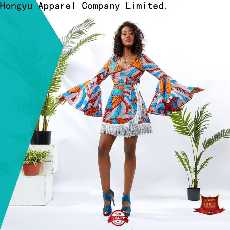 HongYu Apparel long maxi dresses shoulder africa