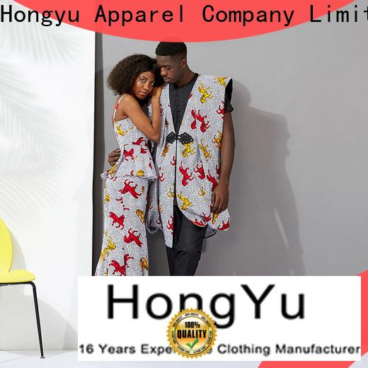 HongYu Apparel customized best couple wear design ladies