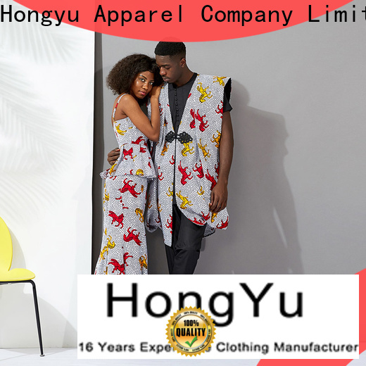 HongYu Apparel customized best couple wear design ladies