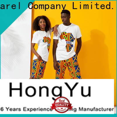 HongYu Apparel matching couple shirts design men