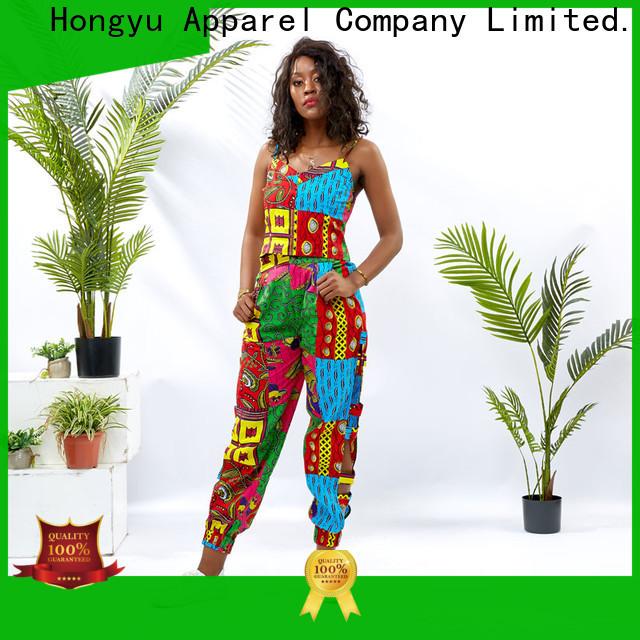 HongYu Apparel top african two piece dress design women