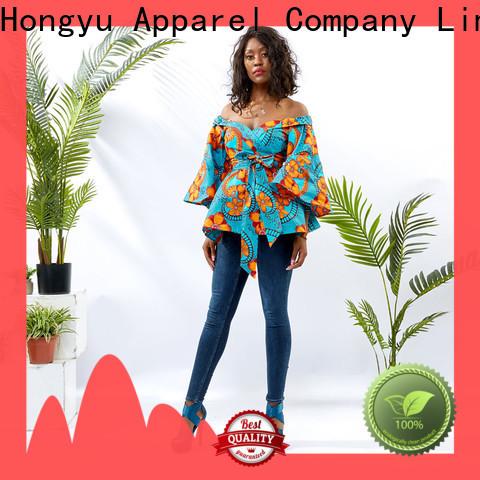 HongYu Apparel cotton tops for women shoulder mall