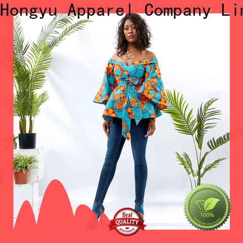 HongYu Apparel cotton tops for women shoulder mall