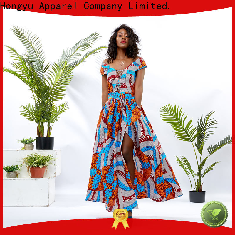 HongYu Apparel african print dresses for ladies women africa