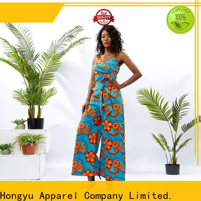 HongYu Apparel top two piece long dresses design women