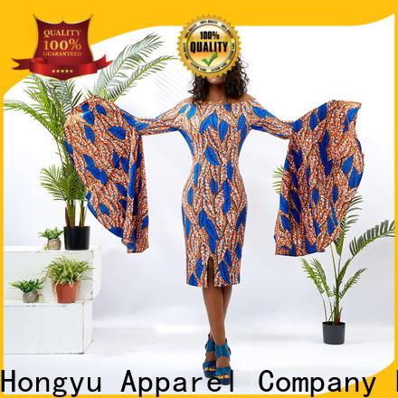 HongYu Apparel v neck dress off reception