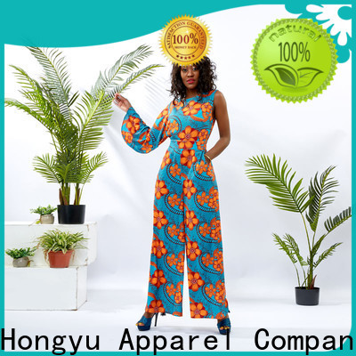 HongYu Apparel digital summer jumpsuits for women design africa