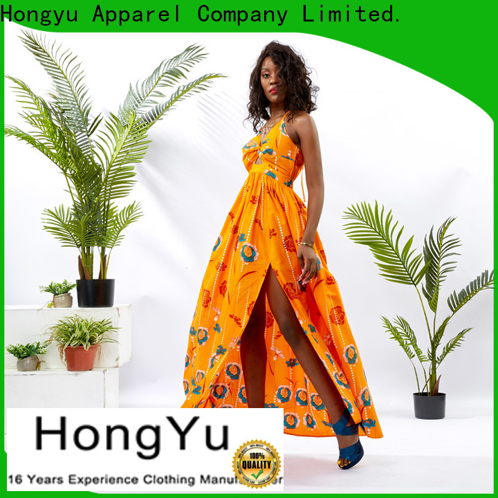 HongYu Apparel two v neck dress women mall