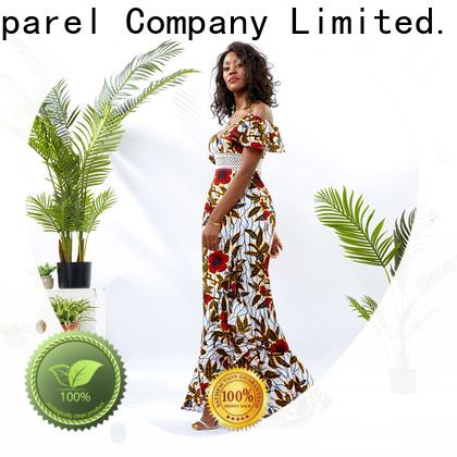 HongYu Apparel oem african dresses for women shoulder reception
