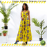 HongYu Apparel trim floral maxi dress shoulder reception