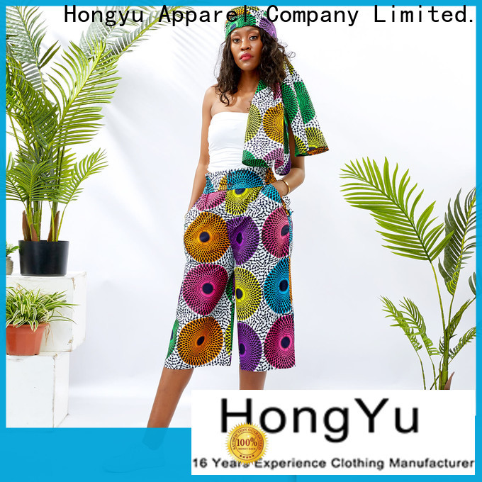 HongYu Apparel casual dress pants womens service reception