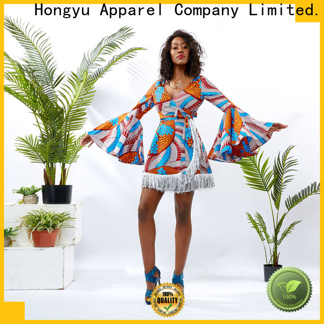HongYu Apparel maxi formal wrap dress off africa