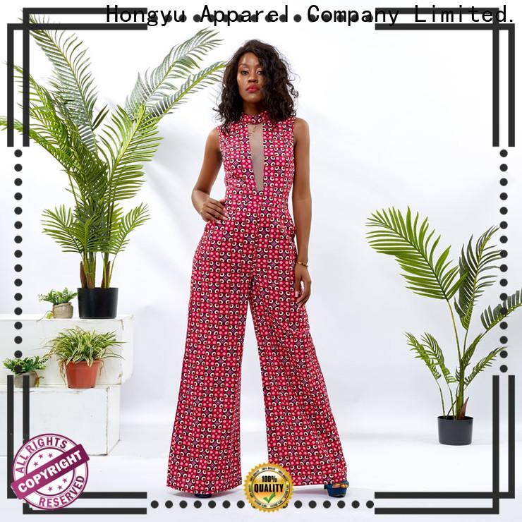 HongYu Apparel customize womens floral jumpsuit service women