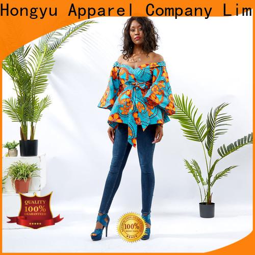 HongYu Apparel floral tops shoulder africa