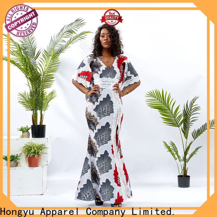 HongYu Apparel v neck dress off africa