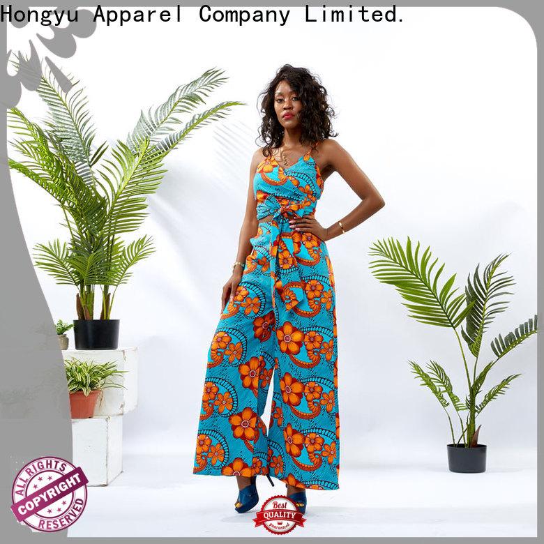 african print two piece dresses design women