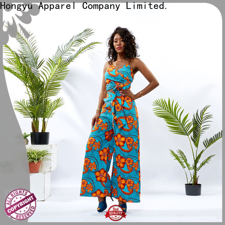 african print two piece dresses design women