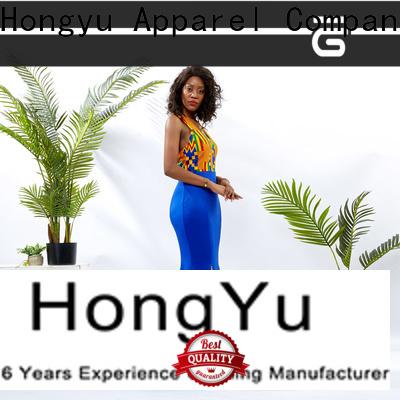 HongYu Apparel short wrap dress shoulder reception