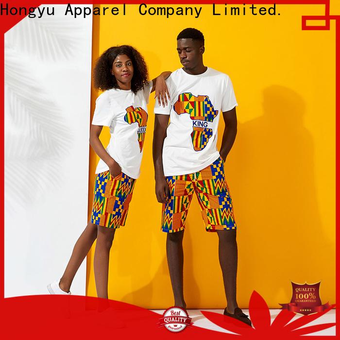 HongYu Apparel quality couple shirt design design couples