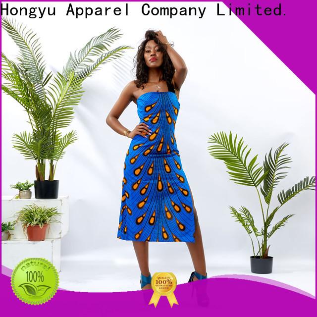 HongYu Apparel midi african print dresses styles off mall