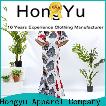 HongYu Apparel trim latest african fashion dresses off mall