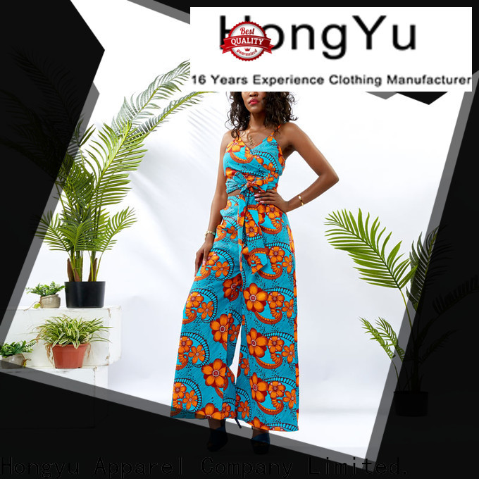 HongYu Apparel women two piece set print women