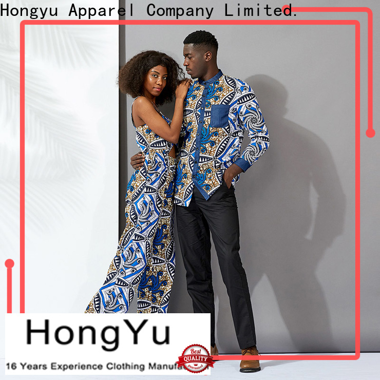 HongYu Apparel customized couple outfits outfits ladies